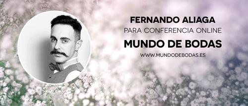Fernando Aliaga en conferencia online para novias